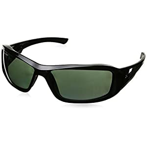 Edge Eyewear TXB21-G15-7 Brazeau Safety Glasses, Black with Polarized G and 15 Silver Mirror Lens