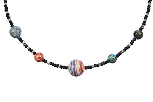 Robyn Ben Jupiter and the Galilean Moons a Choker Necklace for the Astronomer, 16 Inches Adjustable