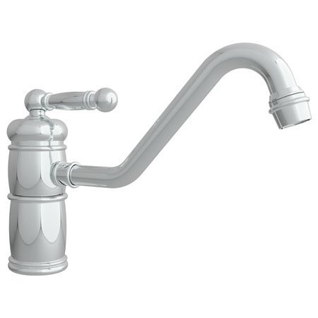 Newport Brass 940 Nadya Single Handle Single Hole Kitchen Faucet with Metal Leve, Polished Nickel