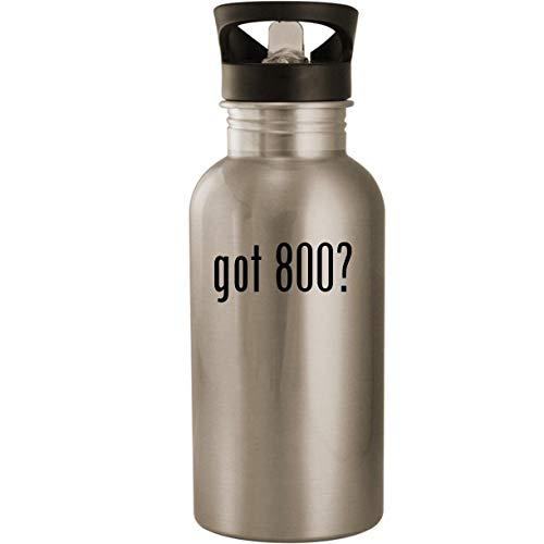 (got 800? - Stainless Steel 20oz Road Ready Water Bottle, Silver)