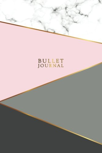 Bullet Covers - Bullet Journal: Marble + Gold Bullet Journal | 120-Page 1/4 Inch Dot Grid Notebook | 6 X 9 Marble & Gold Perfect Bound Softcover (Marble & Gold Bullet Journals)