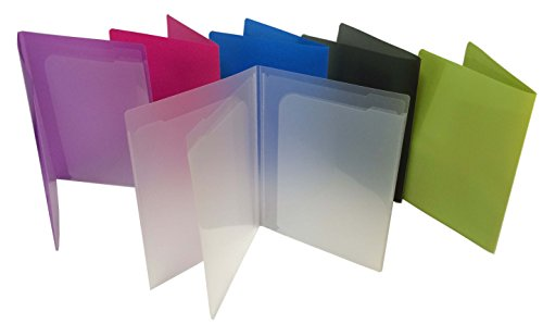 Filexec Products 4 Pocket Port/Folder, Assorted, Pack of 6 (50373-3140)