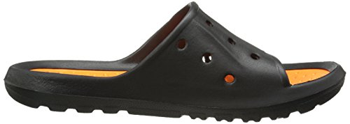 Fila Mens Refrain 2 Sandal Black/Vibrant Orange GEDfSZk