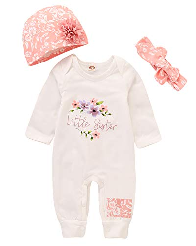 Rompers for Newborn Baby Girls Long Sleeve Outfits Onesies Bodysuit Clothes Set 0-6 Months