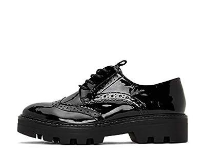 Matt & Nat Womens Vegan Itza Patent Oxford in Black