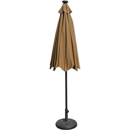 Mirage Fiesta 9' Market Umbrella with Solar LED Stone