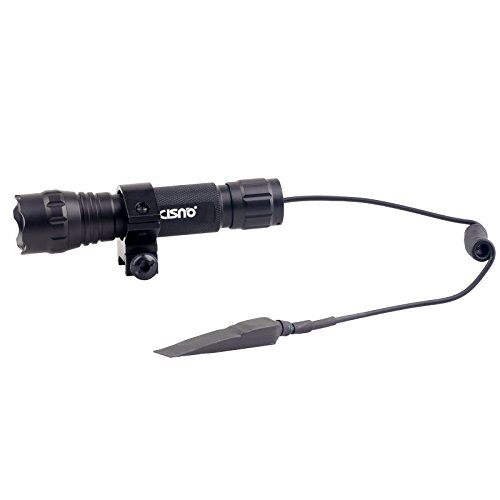 CISNO L2 LED 1000LM Tactical Flashlight With Mount Pressure Switch For Picatinny