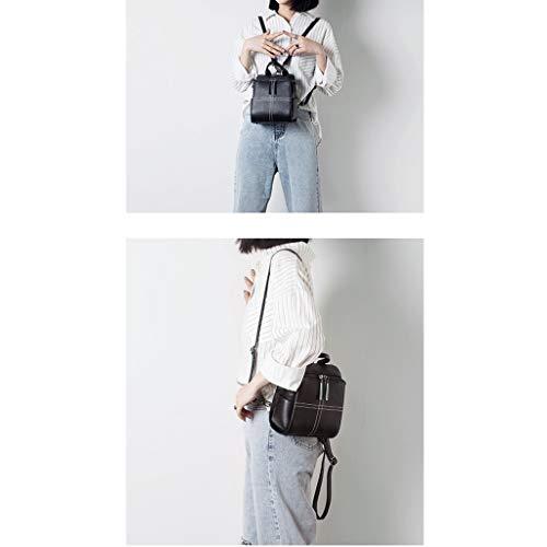 BandoulièRe à Mini Multifonctions Femme éTanche Cuir Sac Dos Black Shopping De Lady Portefeuille Sac DéContracté backpack à en Mode qO51Fgntwx