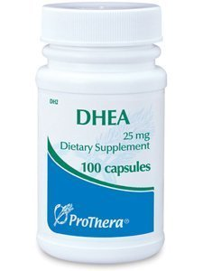 Prothera Dhea 25 Mg 100 Capsules with Pill Box by Prothera