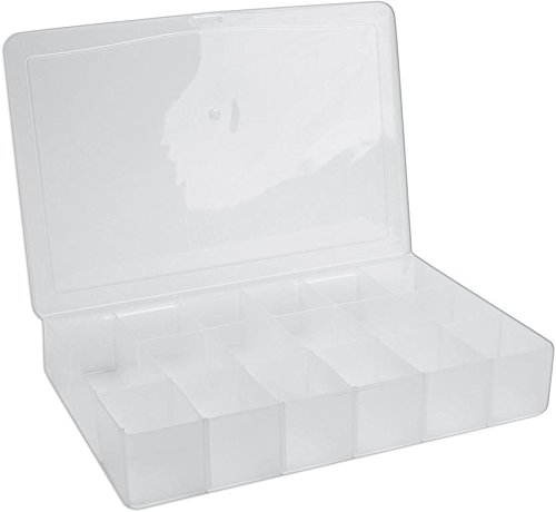 Darice 10674 17 Compartment, Large Empty Floss Organizer