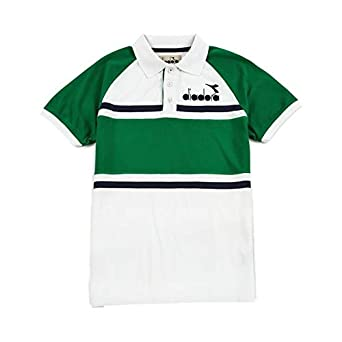 Diadora Polo 80S Green/White-M: Amazon.es: Ropa y accesorios
