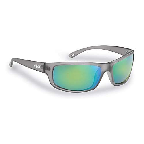 Flying Fisherman 7756GAG Slack Tide Polarized Sunglasses, Granite Frames, Amber-Green Mirror Lens