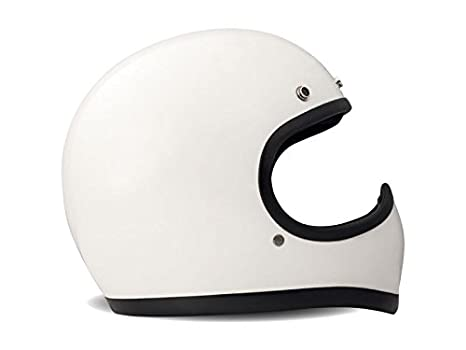 DMD Racer Casque pour moto taille M White