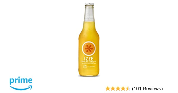 IZZE Sparkling Juice, Clementine, 12 oz Glass Bottles, 12 Count