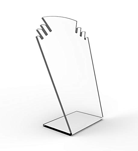 FixtureDisplays Clear Acrylic Plexiglass Necklace Jewelry Stand Countertop Display 11620-8A 11620-8A