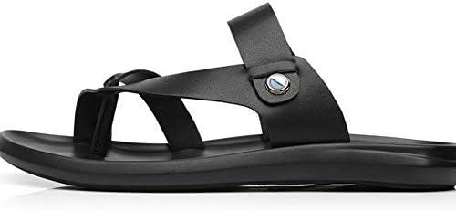 ビーチサンダル トング メンズ 革 カカト付き 2way スリッパ 防滑 歩きやすい オフィス 低反発 スニーカー カジュアルシューズ 軽量 アウトドア 通気性 ブラック 黒 紳士靴 ビーサン