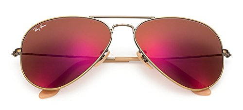 Authentic Ray-Ban Aviator RB 3025 167/2K Demiglos Brushed Bronze/Red Mirror - Ray Red Mirror 3025 Ban