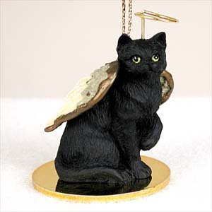 Shorthair, Black Tiny Ones Cat Angel (2 in) (Black Cat Christmas Ornament)