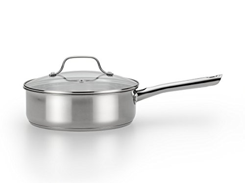 T-fal E76032 Performa Stainless Steel Dishwasher Safe Oven Safe Deep Saute Pan Cookware, 3.5-Quart, Silver