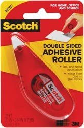 3M Bulk Buy (3-Pack) Scotch Double Sided Adhesive Roller .27 inch x 8.7 Yard 6061