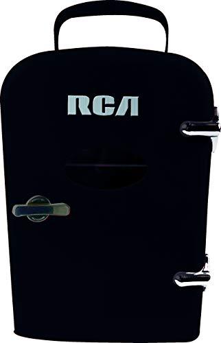 RCA Mini Retro 6 Can Beverage Refrigerator-Black, RMIS129-BLACK, (Best Beverage Refrigerator Reviews)