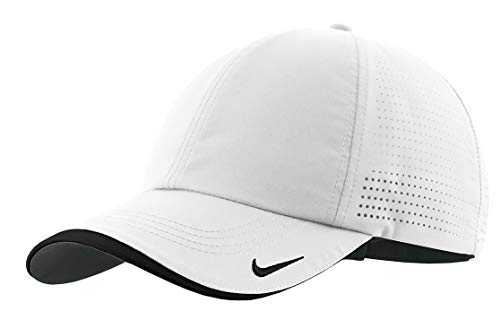 (Nike Golf - Dri-FIT Swoosh Perforated Cap , 429467, White, No)