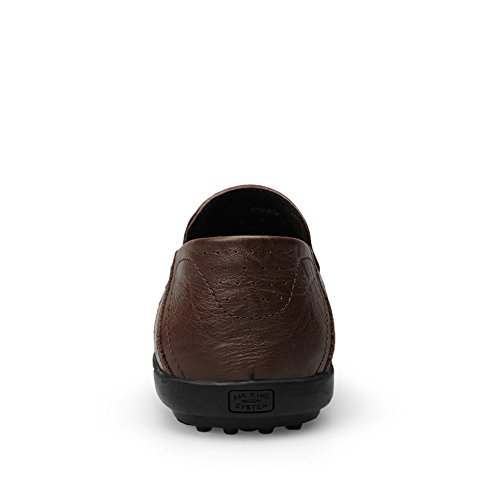 da di Cricket Uomo alla On da Slip Moda Loafer Morbidi Scuro Scarpe Casual Driving Marrone Design Slipper Mocassini EfxwqC6C