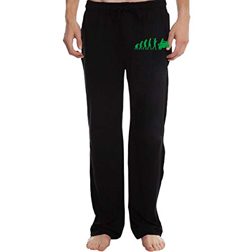 Vhlk07@P Mens Motorcycle Evolution Jogger Sweatpants, Athletic Running Pants with Pockets Black ()