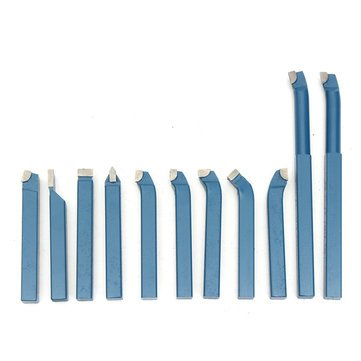 11pcs Carbide Tipped Tip Metal Lathe Turning Cutting Tool Set Cutter Bit 8x8mm