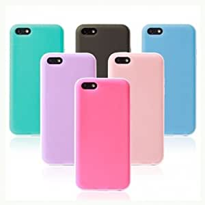Ultrathin Candy Color Plastic Hard Back Case Cover For iPhone 5C --- Color:Blue