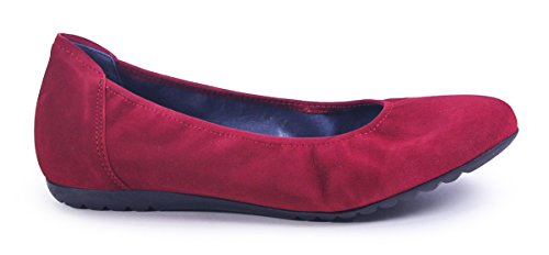 Sabrinas London Cherry Suede Flat