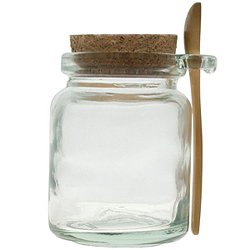 Amazon Com 8oz Glass Jar With Spoon Cookie Jars Kitchen