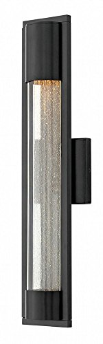 Hinkley 1224SK Contemporary Modern One Light Outdoor Wall Mount from Mist collection in Blackfinish, ()