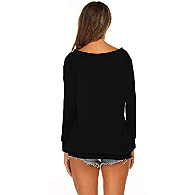 Halife Women's Long Sleeve Boat Neck Off Shoulder Blouse Tops at Women's Clothing store