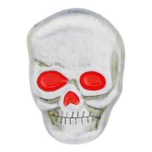 - EagleEmblems P13002 Pin-Skull,Red Eyes (1'')