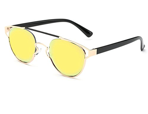 Konalla Reflective Coating Mirrored Lens Sunglasses One-Piece Frame Woman - Men Cyclops Sunglasses X