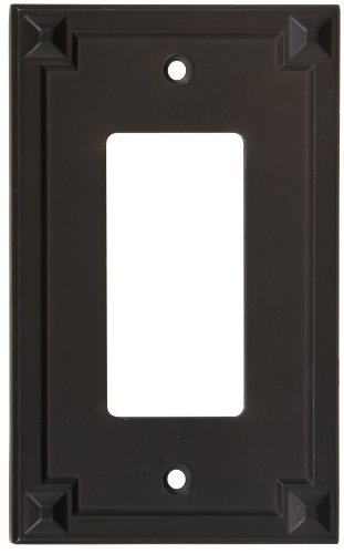 National Hardware S803-726 V8064 Prairie Single GFCI plates in Oil Rubbed ()