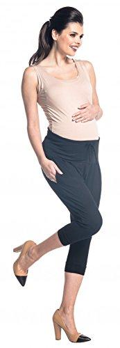 Zeta Ville - Pantalón premama banda elastica cinturilla contraste - mujer - 582c Negro