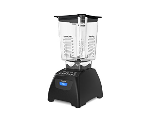 Blendtec Classic 575 Blender with Wildside+ Jar (96 oz) and FourSide Jar (64 oz) BUNDLE, Commercial-Grade Power, Self-Cleaning, 4 Pre-programmed Cycles, 5-Speeds, Black
