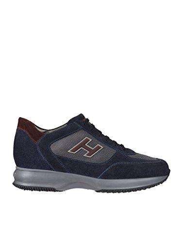 Hogan Hombre HXM00N0Q1019DV981F Azul/Burdeos Gamuza Zapatillas