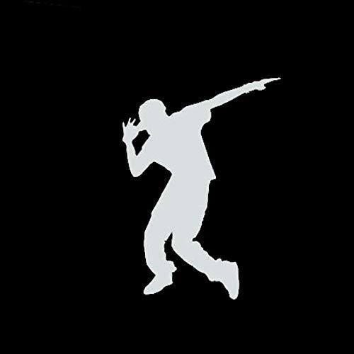 SHMAZ 9.5 * 13.3 Cm Knappe Jongens Dansen Auto Stickers Reflecterende Auto Decoratieve Accessoires Zwart/Zilver