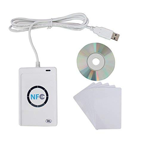 ETEKJOY ACR122U NFC RFID 13.56MHz Contactless Smart Card Reader Writer w/USB Cable, SDK, 5X Writable IC Card by ETEKJOY (Image #2)