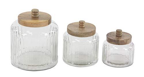 Deco 79 94979 Farmhouse Glass Canister Set, 7