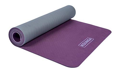 Kounga Unisex's Yoga Mat ProLight 5, Purple/Grey, One size