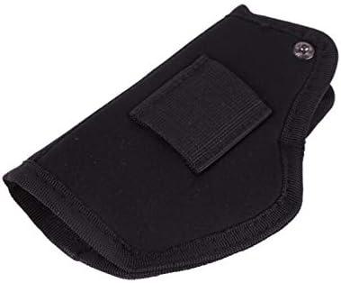 NO LOGO Lixia-Gun, Artículos de Caza for Todos los tamaños Pistolas Pistolera Pistolera Oculta Funda de Transporte Cinturón Clip de Metal Funda Pistolera Airsoft Bolsa (Color : Black Color)