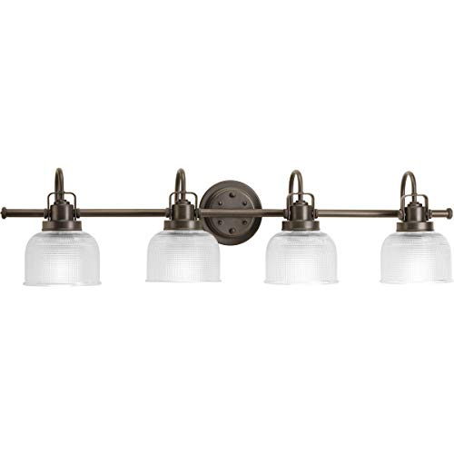 (Progress Lighting P2997-74 Archie Collection Four-Light Bath & Vanity, Venetian Bronze )