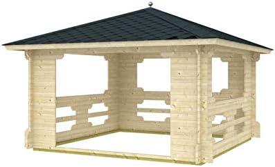 Prikker-Gartenhaus Ibiza-40 - Pérgola de madera, 400 cm x 400 ...