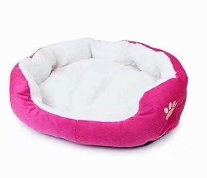 Life-Mall Cama para Gatos y Perros tama/ño:45 35cm,con Forro Redonda u Ovalada Amortiguador Suave Para Peque/ña Mascota