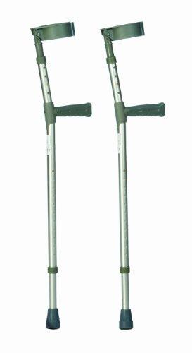 Drive Medical 10450-1 Unterarmgehstützen / Unterarmkrücken / Ellbogenstützen, Aluminium, höhenverstellbar, klein, 1Paar