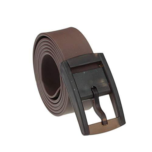Rubber Waist Belt Leather Belt Plastic Buckle Belt Luxury Brand Genuine Belts мужской ремень,Brown,China,120CM ()